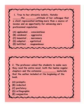 English Grammar Flash Cards