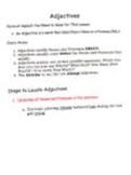 English Grammar Help-- Adjectives