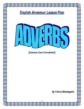 English Grammar Lesson Plan - Adverbs