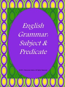 English Grammar: Subject & Predicate