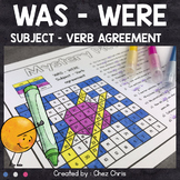 English Grammar : WAS WERE (be simple past) - 6 mystery pictures