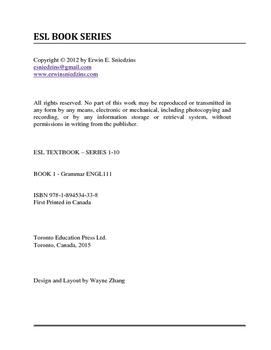 Book 1: English Grammar Workbook from Level 1 to Level 10