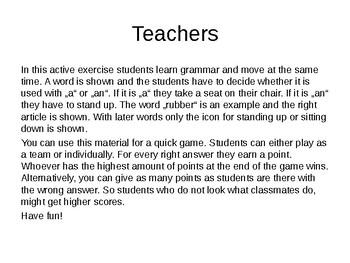 English Grammar - a or an