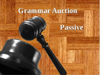 English Grammar - passive and relative clauses auction