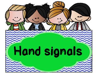 Hand Signals & Voice Level (7 colors: Melonheadz & Glitter Theme)
