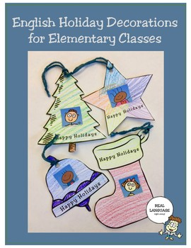 English Holiday Decorations for Elementary Classes