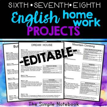 English Homework PROJECTS (uppergrade)