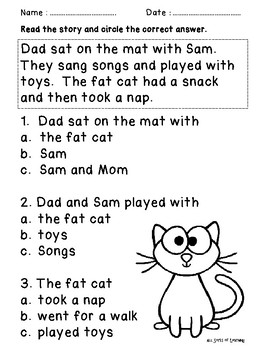 Grade 1 English Homework Pack Week 1