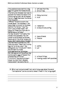 English Homework Project: Horses