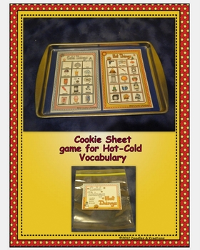 English Hot Cold Cookie Sheet Game