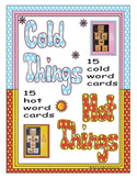 English Hot Cold Vocabulary Cards