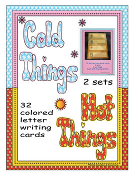 English Hot Cold Vocabulary Tracing Cards Colored