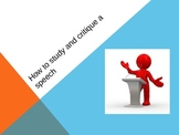 English: How to study and critique a speech