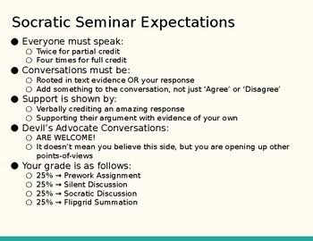 English I Essential Question Socratic Seminar