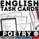 English I & II STAAR Poetry Task Cards
