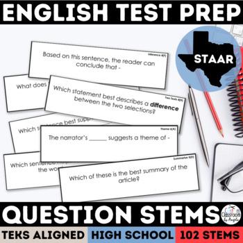 English I & II STAAR Question Stems