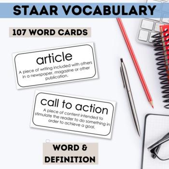 English I & II STAAR Test Prep Vocabulary