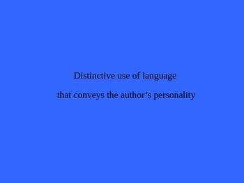 English I Literary Vocabulary Terms Jeopardy  #2