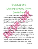 English II EOC Literary and Poetry Terms Bundle Pack