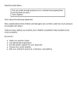 Actual gre essay questions