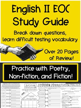 English II EOC Study Guide by Celebrating Secondary | TpT