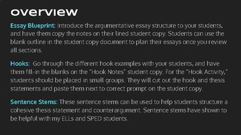 Topics For Essays In English English Ii  Argumentative Essay Structure Resource Bundle Essays On Importance Of English also Reflection Paper Essay English Ii  Argumentative Essay Structure Resource Bundle  Tpt My School Essay In English