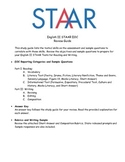 English II STAAR EOC Student Review Study Guide