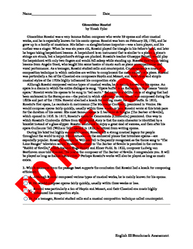English III BOY/EOY ELA Common Core Assessment