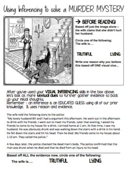 English - Inferencing - Murder Mystery! (visual and written)