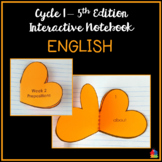English Interactive Notebook (Classical Conversations Cycle 1 - 5th Ed)