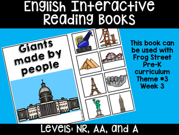Man-Made Giants English Interactive Reading Books Can Be Used With Frog Street