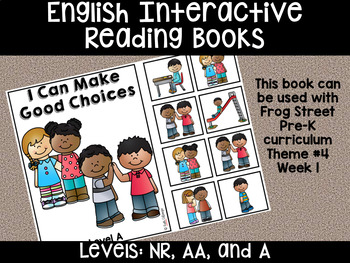 Good Choices English Interactive Reading Books Can Be Used With Frog Street