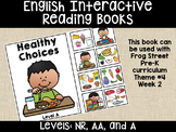 Healthy Choices English Interactive Reading Books Can Be Used With Frog Street
