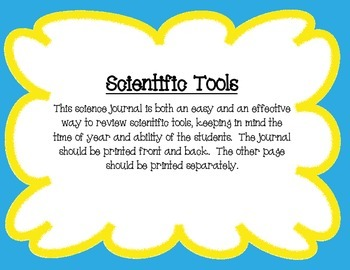 Interactive Science Journals Kindergarten/1st: Tools,Size/Mass,5 Senses & more!
