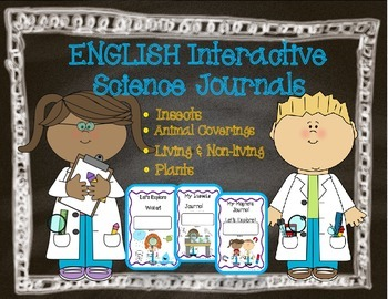 English Interactive Science Journals for K/1: Insects, Cov