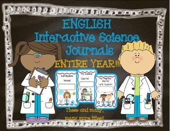 Interactive Science Journals for Kindergarten/1st:  Entire Year!! (English)