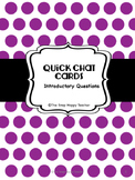 ESL Introductory Question Cards