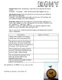 English - Irony worksheet