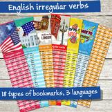 English Irregular Verbs Bookmarks