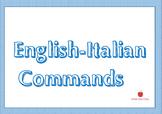 English - Italian Command Wallcards