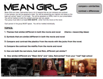 English - Jake, Reinvented - Comparing to Mean Girls