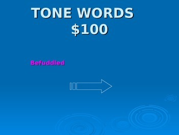 English Jeopardy Review Game
