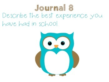 English Journal Prompts