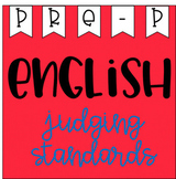 English Judging Standards Pre Primary