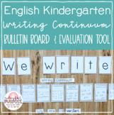 English Kindergarten Emergent Writing Continuum Display & Evaluation Tool
