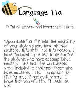 English Language Arts 1.1.a