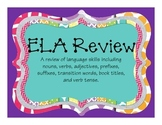 English Language Arts 3rd Grade Review Book Hunt