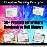 50+ Writing Warm-ups or Writer's Notebook Prompts