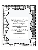 English Language Arts 7th Grade Reading Assessment Common