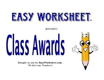 English Language Arts Class Awards